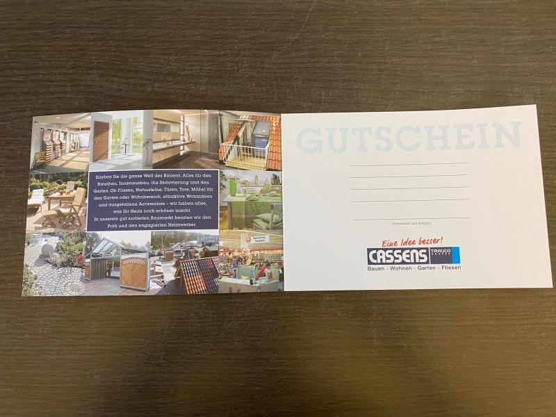 Gutschein - Cassens Gutschein