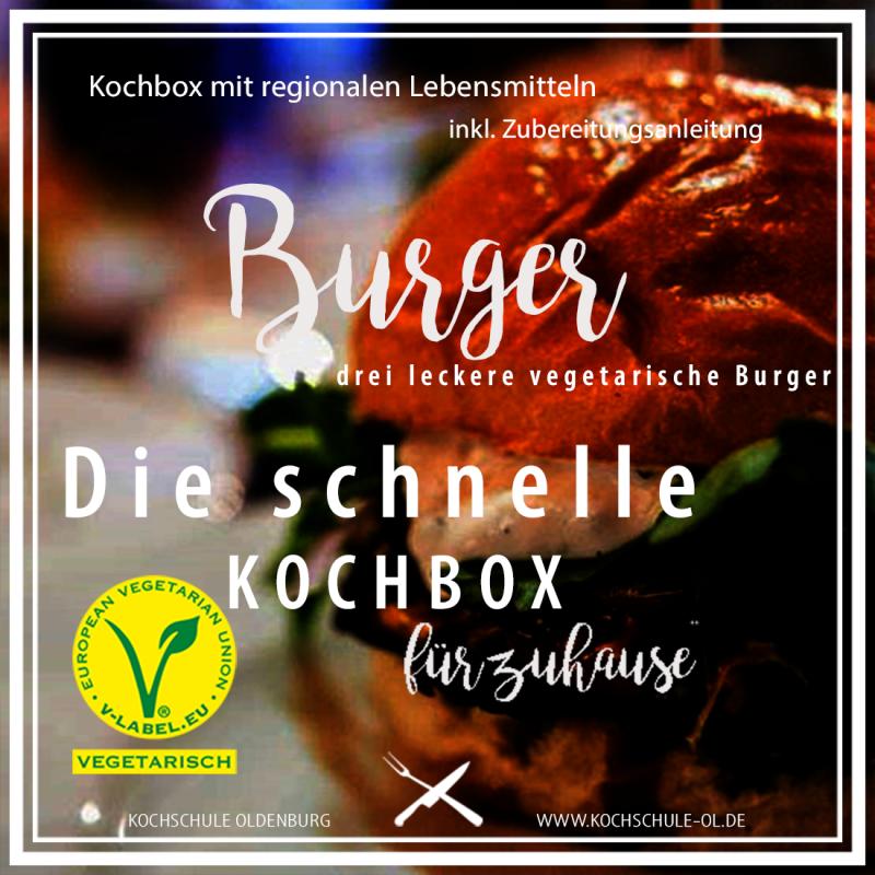 Gutschein - die schnelle Kochbox - Burger vegetarisch